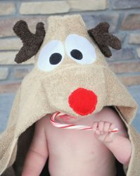 Reindeer Towel with Hood