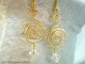 Treble Clef Spiral Wire Earrings
