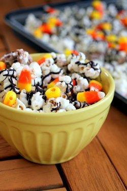 White Candy Corn Popcorn Copycat