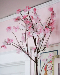 Coffee Filter Cherry Blossoms