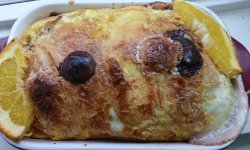 Chocolate Chip Crescent Roll Bread Pudding