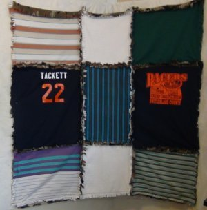 Ragged T-Shirt Quilt Instructions