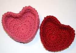 Hugs and Kisses Heart Baskets