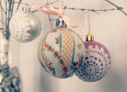 Vintage Style Christmas Baubles