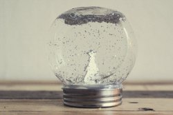 Beautiful Sparkling Snow Globe