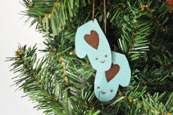 Cute Smiling Mittens Ornament