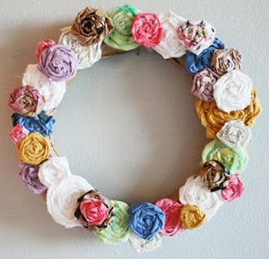 Spring Roses Wreath