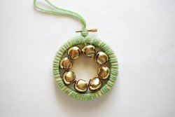 Mini Bell Wreath Embroidery Hoop Ornament