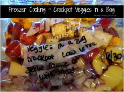 Freezer Cooking: Slow Cooker Veggies in a Bag