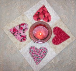 sewing valentine craft ideas applique quilted candle mat allfreesewing 5397