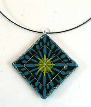 Quilted Necklace Pendant