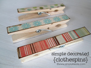 Simple Decorated Clothespins