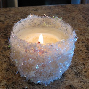 Snowflakey Candle Holder