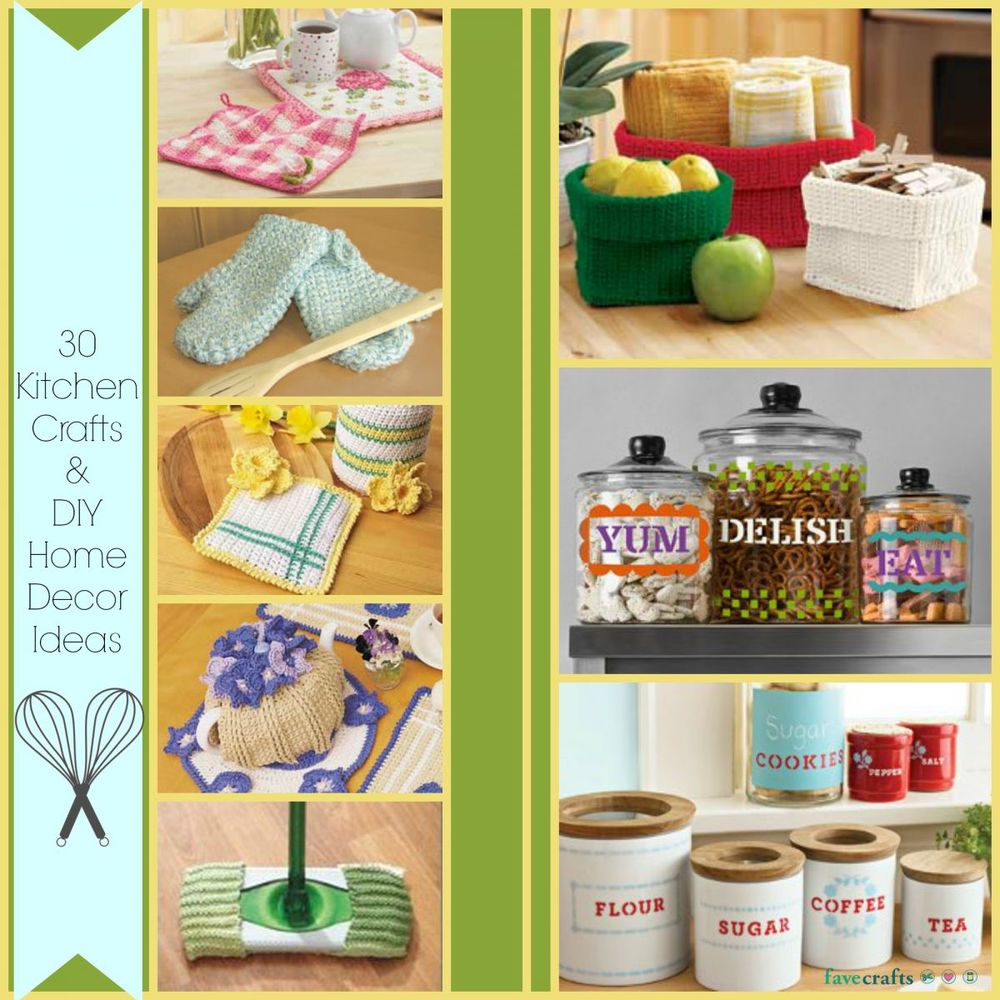 30 kitchen crafts and diy home decor ideas for Home decor crafts