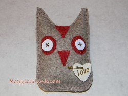 Recycled Wool Owl