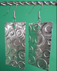 Embossed Foil Earrings