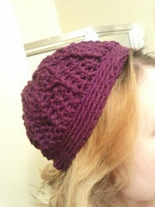 Purple Crochet Slouchy