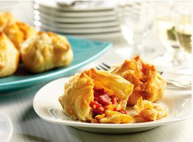 Roasted Red Pepper & Basil Puffs