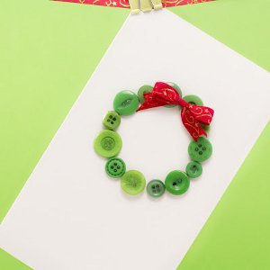 Little Button Wreath Card