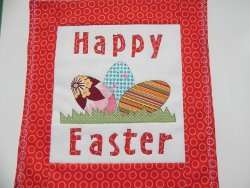 Happy Easter Applique Wall Hanging