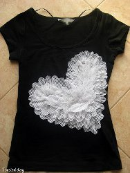 Ruffled Heart T Shirt