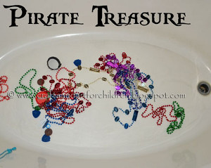 Pirate Bubble Bath Treasure Hunt