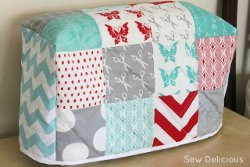 Quilt Squares Sewing Machine Cover