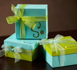 Pretty Painted Favor Boxes