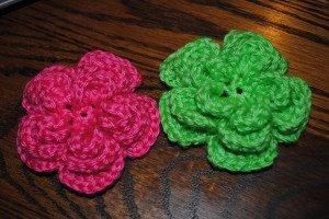 Easy Layered Crochet Flower Pattern : Triple Layer Crochet Flower AllFreeCrochet.com