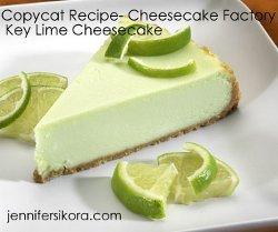 Copycat Cheesecake Factory Key Lime Pie Cheesecake