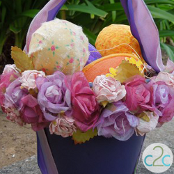 Colorful Clay Pot Easter Basket