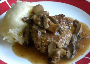 Old-Fashioned 1950s Salisbury Steak