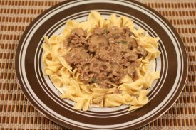 Friday Supper Beef Stroganoff