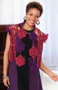 Lacy Flower Capelet