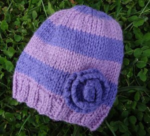 Very Violet Newborn Hat
