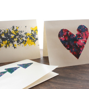 Melted Heart Crayon Shavings Card