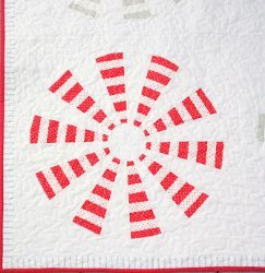 Peppermint Flower Dresden Block
