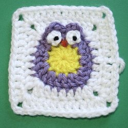 Baby Owl Granny Square Pattern