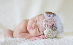 Vintage Infant Headband Tutorial