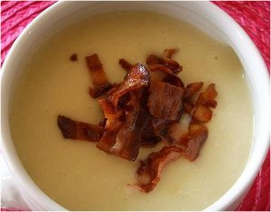 Cauliflower, Bacon and Cheese Soup