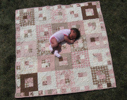 Snuggly Squares Baby Quilt