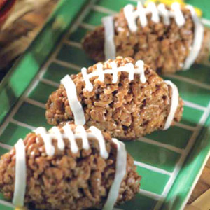Football Rice Krispie Treats