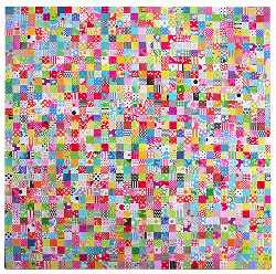 Popular Checkered Scrap Quilt Pattern
