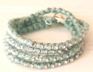Sparkled Yarn Wrapped Bracelet