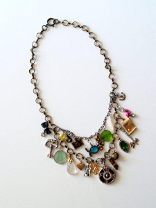 Charming Collage Necklace
