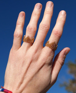 Crown Seed Bead Ring