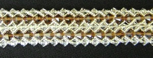 Double Woven Chocolate Crystal Bracelet