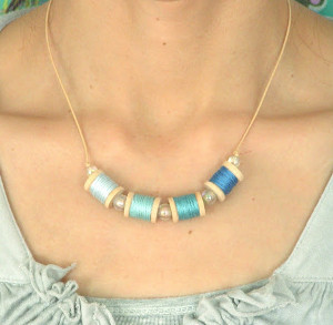 Spool on Thread Necklace