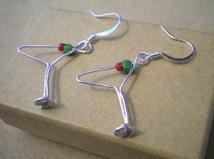 Martini Glass Wire Earrings