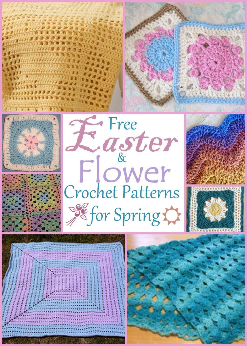 Free Crochet Easter Afghan Patterns : 13 Free Easter and Flower Crochet Patterns for Spring ...